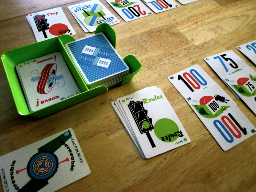 mille bornes game night guys. Black Bedroom Furniture Sets. Home Design Ideas