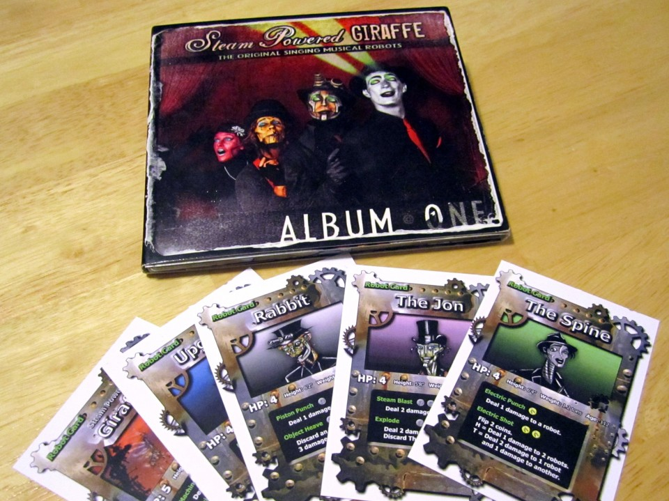 Steam Powered Giraffe The Card Game