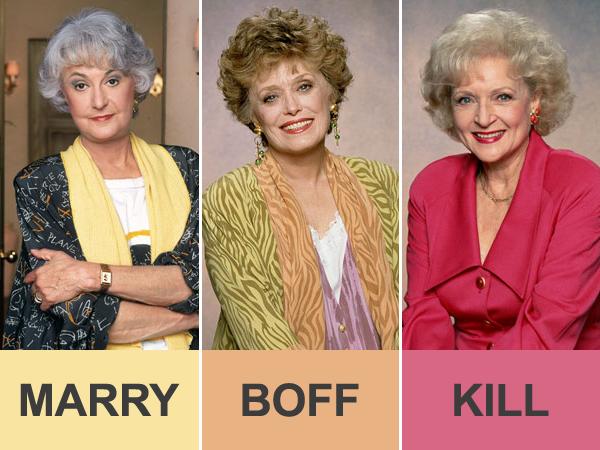 Marry, Boff, Kill