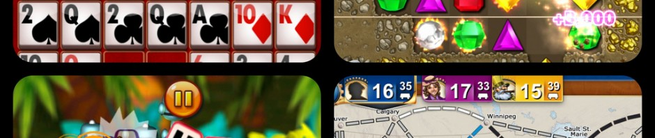 Poker Pals, Bejeweled, Quarell DX & Ticket To Ride Pocket