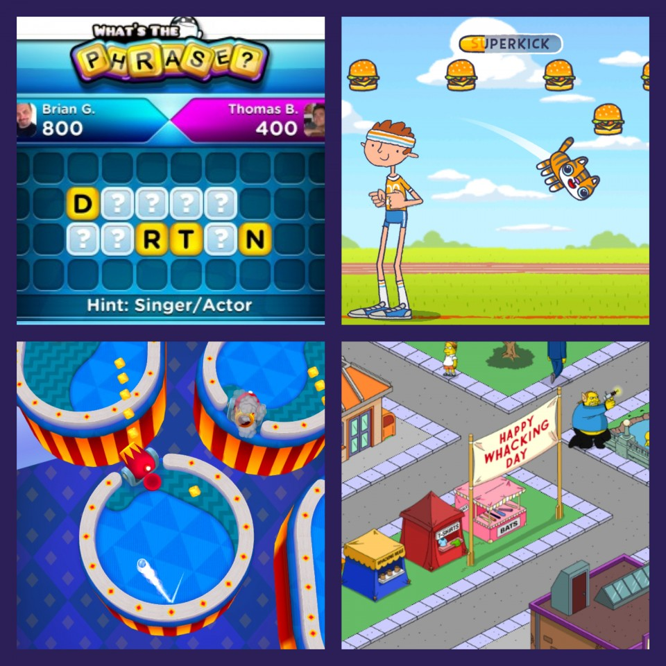What's The Phrase, Hackycat, Mini Golf Matchup and The Simpsons: Tapped Out